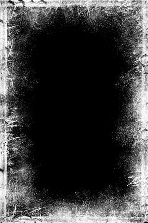 Illustration of a grungy black chalkboard with white and sepia distress lines