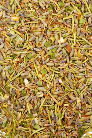Achtergrond textuur van Herbes de Provence Stockfoto - 3960684