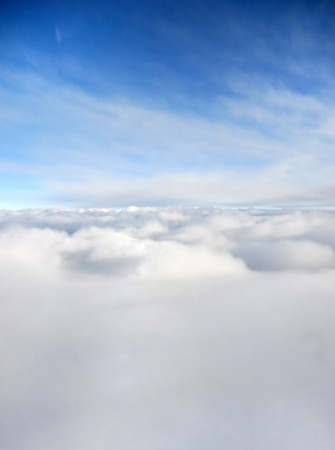 viewpoint: Scenic viewpoint from above and below clouds in the sky