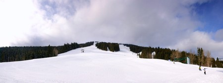 Panorama of Mt. Spokane Recreational Ski Area, Mt. Spokane State Park, Washington