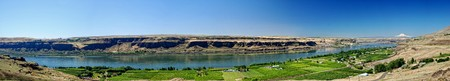 Panoramic view of the Columbia River shot from Maryhill, Washington