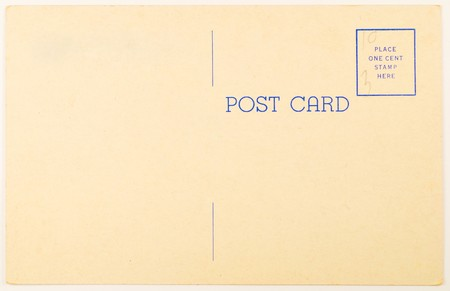 Blank vintage postcard from mid-1900s with copyspace Stock Photo - 7488219