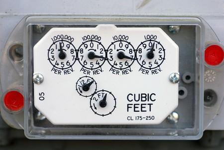 Closeup of an electical meter