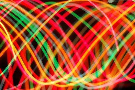 streaking: Streaks of colorful lights in motion