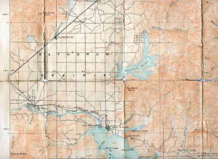 1903 Folded Map of Rathdrum Prairie, Idaho photo