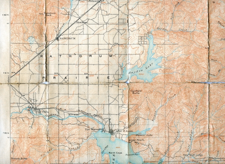 1903 Folded Map Of Rathdrum Prairie Idaho Stock Photo Picture And