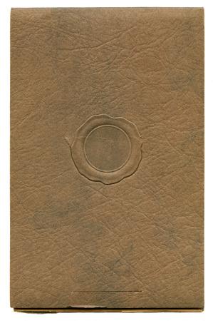 faux: Antique fotografia carta per copertine di fondo con sigillo di cera faux
