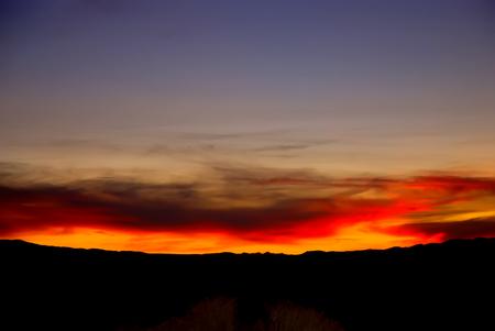 nevada desert: Sunset over the Nevada desert near Wells, Nevada