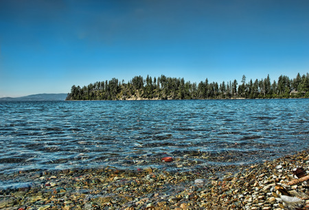 Shore of Flathead Lake in northwestern Montana Stock Photo
