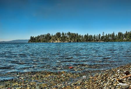 flathead: Shore of Flathead Lake in northwestern Montana Stock Photo