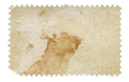 postage stamp: Back of a grungy old postage stamp