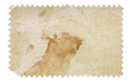 timbre postal: Volver de un sello sucio de edad Foto de archivo