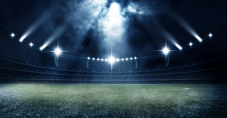 football soccer stadium at night 3d render