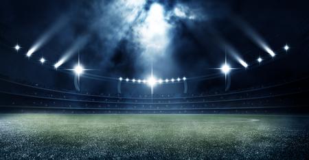 Fußball Fußballstadion in der Nacht 3d rendern