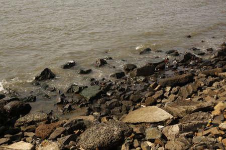 ali: Rock   Sea near Haji Ali Stock Photo