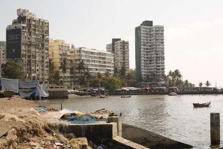 ali: Buildings Scenario near Haji Ali Stock Photo