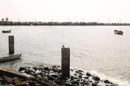 ali: boat in Sea near Haji Ali