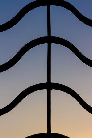filling line: black line pattern on beautiful color backgroud Stock Photo