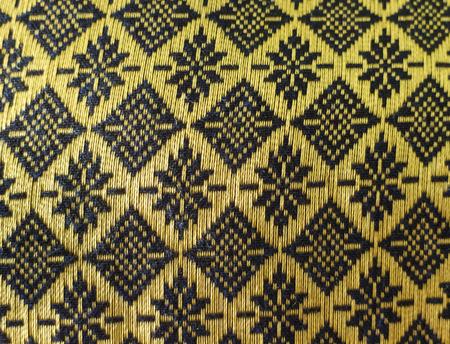 messaline Thai texture pattern blue-black and gold
