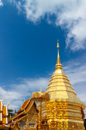 Wat Phrathat Doi Suthep temple in Chiang Mai, Thailand.