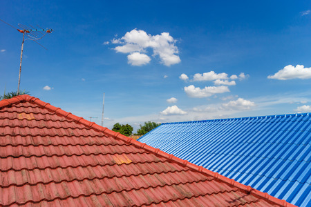 roof tiles 스톡 콘텐츠