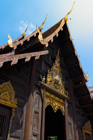 landscape format: Pra Wi Harn Hor Kum Luang,in Chiang Mai Thailand