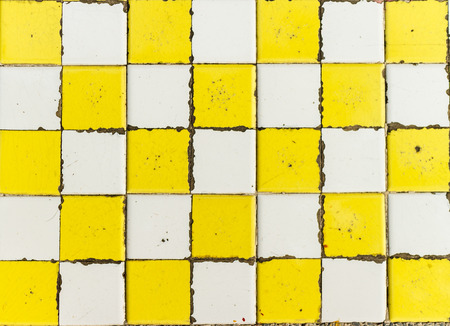 grid pattern: old grid on table twin color yellow and white photo