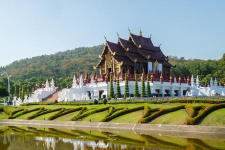 chaingmai: The Royal Pavilion (Ho Kham Luang) in Royal Park Rajapruek, at Chaingmai Thailand Editorial