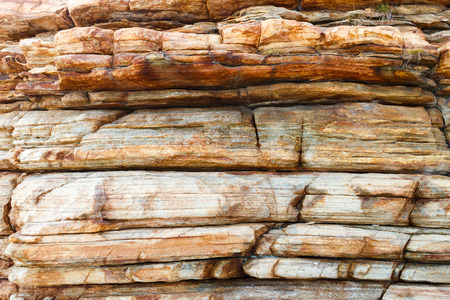 stratigraphy: Layers of sandstone rock for natural background photo Stock Photo