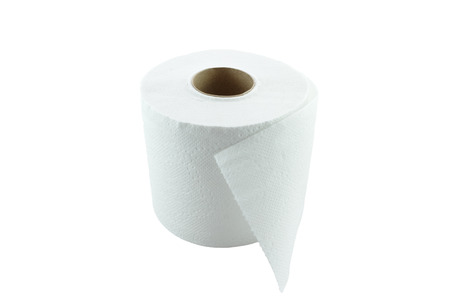 paper background: Tissue Paper or  Toilet paper isolation on white background Stock Photo