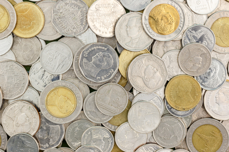 2 50: close up Thai coin background photo stock Stock Photo