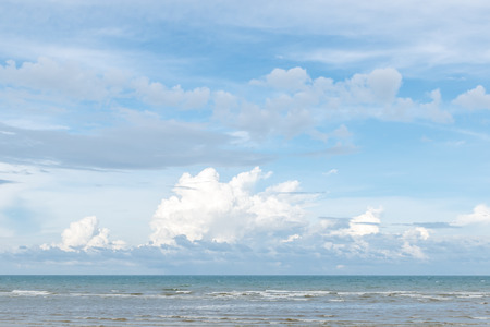 sea and beautiful sky and cloud of natural background