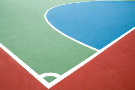 close up colorful field of sport floor