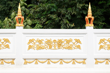 fence of thailand temple, culture of thailand tradition Stock fotó