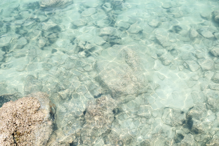 top view od transparent shallow ocean sea water surface in summer Stock fotó