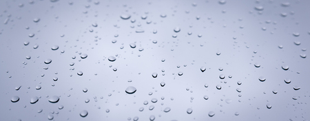 close up drop water on glasses window from rain, banner size for use Stock fotó