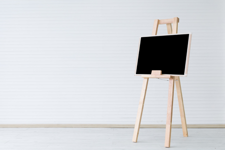 blank painting board on clean room, minimalism concept