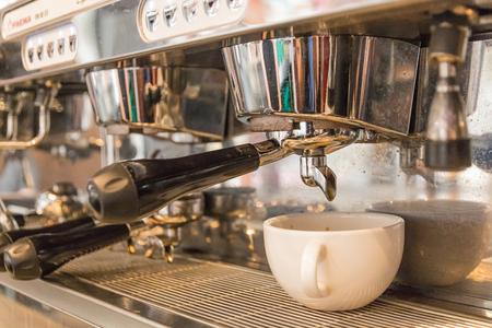 barista make espresso with coffee machine Sajtókép