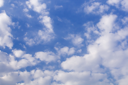 blue sky and white cloud natural view for background