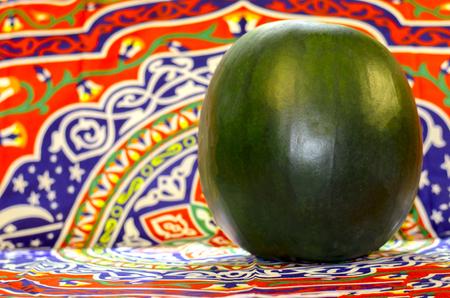 Watermelon fruit background Ramadan