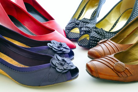 high heeled: The happiness of every woman, shoes.