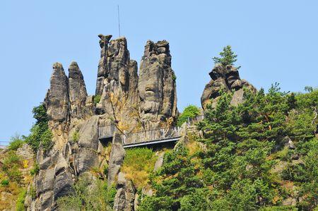 Nuns rock in the Zittau Mountains in Saxony.