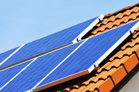 photovoltaic: solar energy Stock Photo