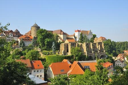 View of the historic old city of Bautzen in Upper Lusatia.