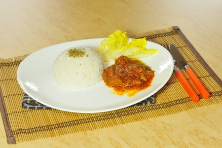 goulash with rice photo