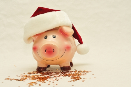 Piggy bank against white background  Stock Photo