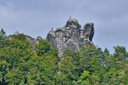 saxon: The Saxon Switzerland with Bastion massif in Rathen.