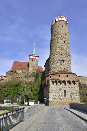 Old Waterworks and Church of St. Michael in Bautzen