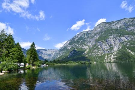 Bohinjsko jezero (Lake of the Week) in Slovenia Stock Photo