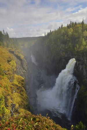 The Hällingså falls waterfall in sweden